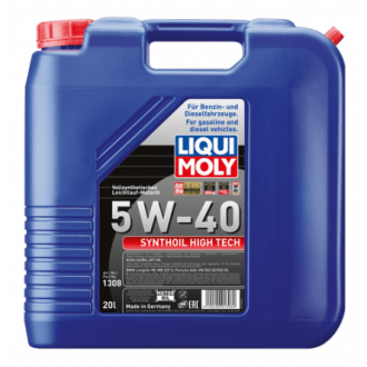 Liqui Moly Synthoil High Tech     Синтетическое 5W40 ACEA A3|B4, API SM|CF,    20 л.,